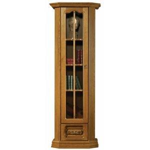PYKA Kinga L rustikálna jednodverová vitrína drevo D3