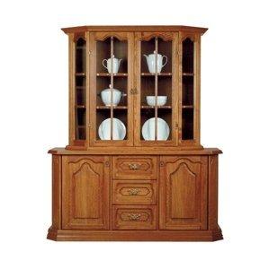 PYKA Kinga rustikálna vitrína s komodou drevo D3