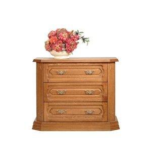 PYKA Kinga rustikálny nočný stolík drevo D3
