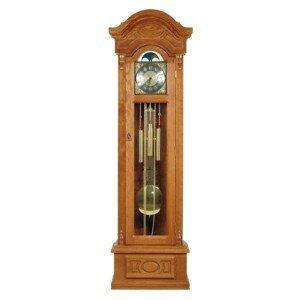 PYKA Gubernator rustikálne stojace hodiny s kyvadlom drevo D3