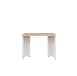 BLACK RED WHITE Denton BIU/100 písací stôl biely lesk / dub poľský