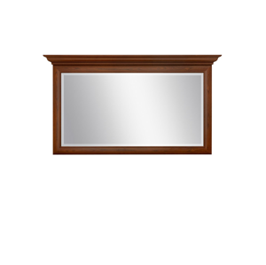 BLACK RED WHITE Kent ELUS155 rustikálne zrkadlo gaštan