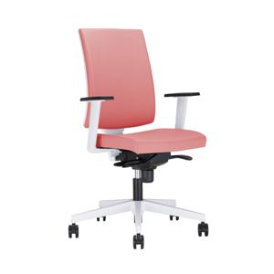NOWY STYL Navigo UPH kancelárska stolička s podrúčkami červená / biela