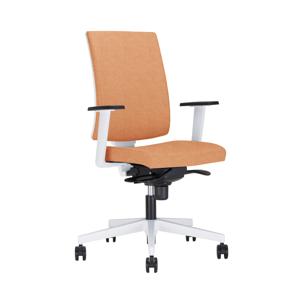 NOWY STYL Navigo UPH kancelárska stolička s podrúčkami oranžová / biela