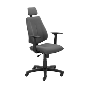 NOWY STYL Gem Hru kancelárska stolička s podrúčkami sivá / čierna
