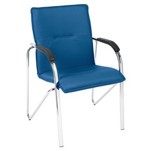 NOWY STYL Samba 4L Arm konferenčná stolička modrá / chróm