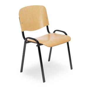 NOWY STYL Iso Wood konferenčná stolička buk / čierna