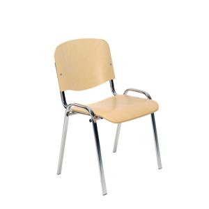 NOWY STYL Iso Wood konferenčná stolička buk / chróm