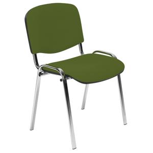 NOWY STYL Iso Chróm konferenčná stolička zelená (M38) / chróm