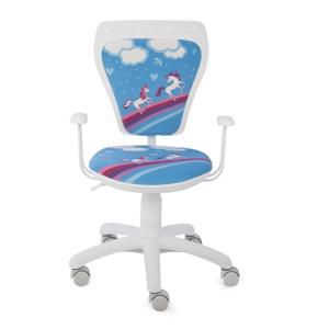 NOWY STYL Ministyle detská stolička na kolieskach s podrúčkami biela / vzor Pony