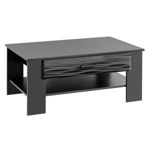 FURNIVAL Blade 4 konferenčný stolík čierna / sahara lesk