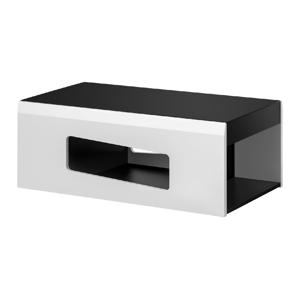 FURNIVAL Rake konferenčný stolík čierna / biela