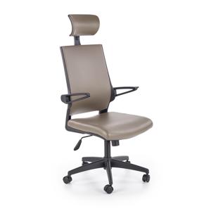 HALMAR Ducat kancelárska stolička s podrúčkami sivá