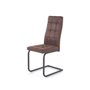 HALMAR K310 jedálenská stolička tmavohnedá / čierna