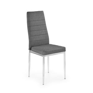 HALMAR K354 jedálenská stolička sivá / chróm