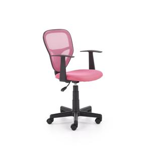 HALMAR Spiker detská stolička na kolieskach s podrúčkami ružová / čierna