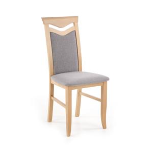 HALMAR Citrone BIS jedálenská stolička dub medový / sivá