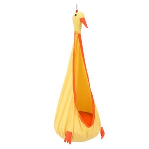 TEMPO KONDELA Tolo závesné hojdacie kreslo žltá / oranžová