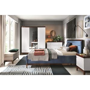 TARANKO Via spálňa biely mat / mahagón vysoký lesk
