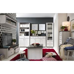 BLACK RED WHITE Porto obývacia izba smrekovec sibiu svetlý / borovica larico