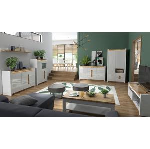 BLACK RED WHITE Alameda obývacia izba biely lesk / dub westminster