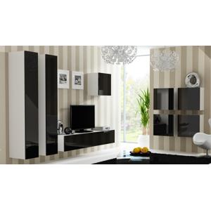 CAMA MEBLE Vigo obývacia izba biela / čierny lesk