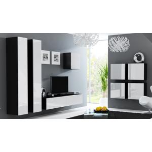CAMA MEBLE Vigo obývacia izba čierna / biely lesk