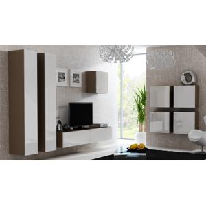 CAMA MEBLE Vigo obývacia izba latte / biely lesk