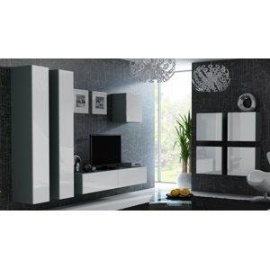 CAMA MEBLE Vigo obývacia izba sivá / biely lesk