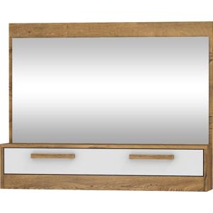 MEBLOCROSS Maximus MXS-14 zrkadlo na stenu dub burgundský / biely lesk