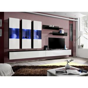ASM Fly E2 ZW obývacia stena s osvetlením čierna / biela