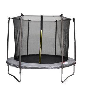 NABBI Skyper trampolína 183 cm čierna / sivá