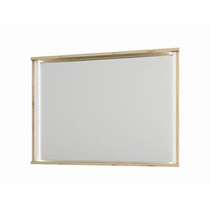 NABBI Leksand M zrkadlo na stenu dub wellington / biela