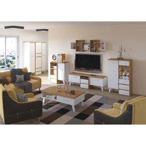 MEBLOCROSS Nordis obývacia izba dub artisan / biela