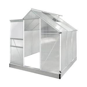 NABBI Glasshouse záhradný skleník 190x190x195 cm priehľadná