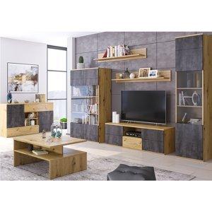 TEMPO KONDELA Eridan obývacia izba dub artisan / sivý betón