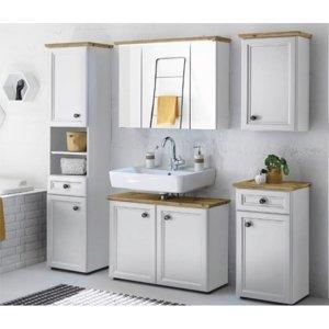 TEMPO KONDELA Toskana kúpeľňa biela / dub artisan