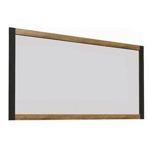 KONDELA Montana LS zrkadlo na stenu dub lefkas tmavý / smooth sivý