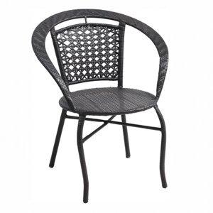 KONDELA Lasan záhradná stolička hnedá