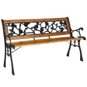 KONDELA Faiza záhradná lavička čierna / prírodná