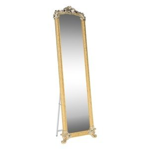 KONDELA Odine stojace zrkadlo zlatá