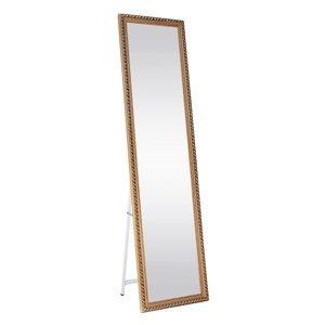 KONDELA Laval stojace zrkadlo hnedá