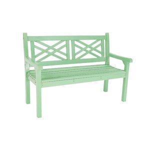 KONDELA Fabla drevená záhradná lavička 124 cm neo mint