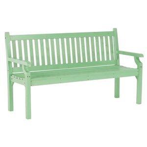 KONDELA Kolna drevená záhradná lavička 150 cm neo mint