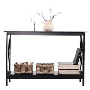 KONDELA Apolos konzolový stolík čierna