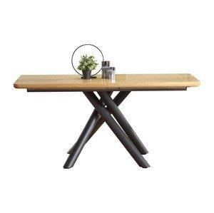 HALMAR Derrick rozkladací jedálenský stôl dub prírodný / čierna