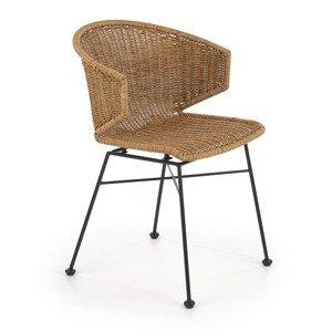 HALMAR K407 záhradná stolička prírodná / čierna