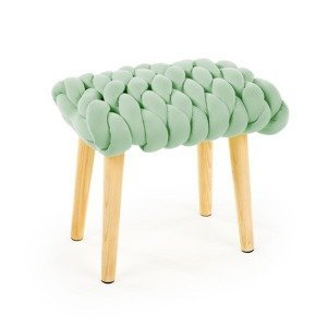 HALMAR Yeti taburetka zelená / prírodná