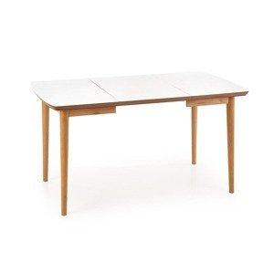 HALMAR Bradley rozkladací jedálenský stôl biela / dub lefkas