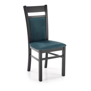 HALMAR Gerard 2 jedálenská stolička čierna / tmavozelená